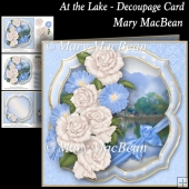 At the Lake - Decoupage Card