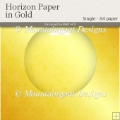 Horizon Paper in Gold