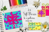 Sherbet Dip Gift Boxes CU Clipart