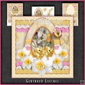 Vintage Romantic Lace Easter Egg Card Kit 1175