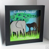 Elephant Picture Shadow Box Template - GSD/Studio Ready