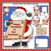 Santa Over The Side Card Kit
