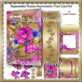 Bejewelled Roses Asymmetric Fold Card Kit