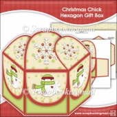 Christmas Chick Hexagon Gift Box