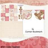 4 Corner Bookmark Beary Love