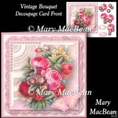 Vintage Bouquet Decoupage Card Front
