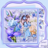 ARCHWAY FAERIE 7.8 Flower Fairy Decoupage Mini Kit