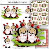2 Little Ladybirds Dcoupage Set