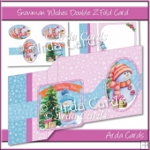 Snowman Wishes Double Z Fold Card