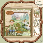 River Fishing 7.5 Decoupage Insert & Ages Kit