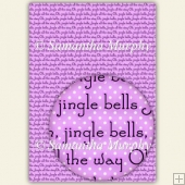 Purple/Lilac Jingle Bells A4 Backing Paper