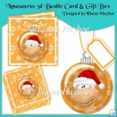 Xmasaurus 3d Bauble with Card and Gift Box