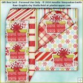 Gift Box Card - Red Christmas Presents