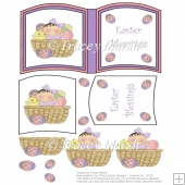 Easter Basket Girl Open Book Sheet