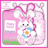 Eggstraspecial Bunny Shaped 2 Card