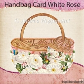 Handbag Card White Rose