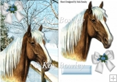 lovely palomino horse in the snow A5