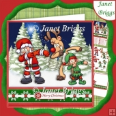 SANTA & PALS DABBING Christmas Decoupage Teenagers & Children