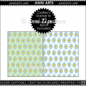Easter Daffodils Egg Pattern Papers/ Wrapping