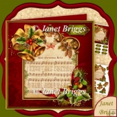 Glad Christmas Bells 7.5 Christmas Carol Decoupage Kit