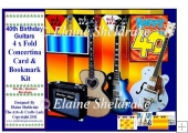 40th Birthday Guitars - Over The Edge Concertina Card Kit