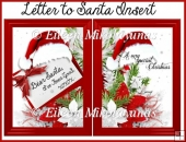 Letter to Santa Christmas Insert/Topper