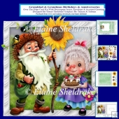Granddad & Grandma Anniversary & Birthday Over The Edge Card Kit