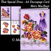 That Special Dress - A4 Decoupage Card