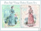 Paris Style Vintage Fashion Toppers Set 2