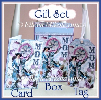 Gift Box Set for Mom with Bonus Tag and Gift Enlosure Card