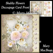 Shabby Flowers - Decoupage Card Front