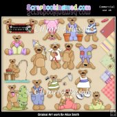 Beary Fun Clipart Graphics Download