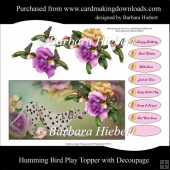 Humming Bird Play Topper with Decoupage
