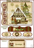 Olde Fashion Christmas Gatefold Card Set with Directions