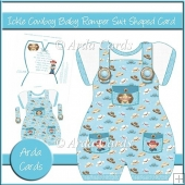 Ickle Cowboy Baby Romper Suit Shaped Card