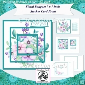 Floral Bouquet 7 x 7 Inch Stacker Card Front