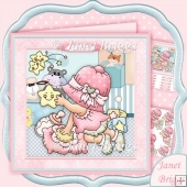 New Baby Girl Playing 8x8 Decoupage Kit