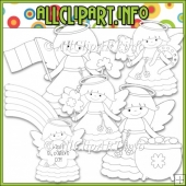 Little Irish Angels Commercial Use Digital Stamps