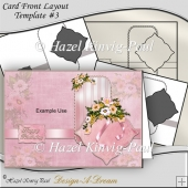 Layered Card Front Layout Template #3