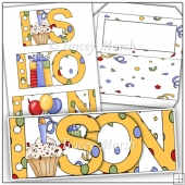 Son Birthday Word Book Set