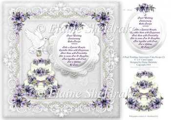 Pearl Wedding Anniversary Recipe For Happiness (2) - Card Topper