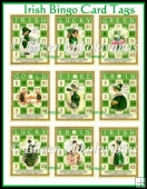 Irish St. Patrick's Day Bingo Cards for Tags, Toppers, Inserts