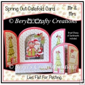 Spring Out Gatefold Card - Mrs & Mrs