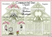 Commercial Use Paris Atelieur Boutique Designer Resource Clipart