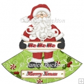 HoHoHo Santa Rocker Card