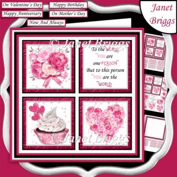 TO THE WORLD 7.5 Quick Square Layers Card Kit All Occasions