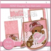 XOXO Rounded Tent Fold Card