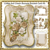 Coffee And Cream Bouquet Bracket Card Kit