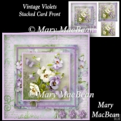 Vintage Violets - Stacked Card Front
