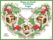Peace on Earth Christmas Angel Lampshade Kit with Directions